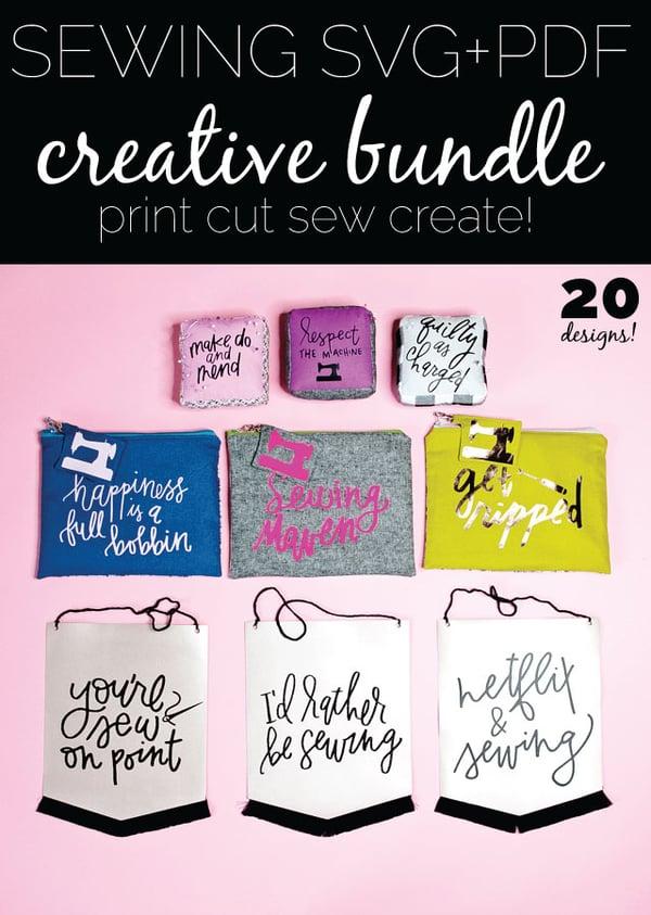 Image of SEWING SVG + PDF // CREATIVE BUNDLE #1