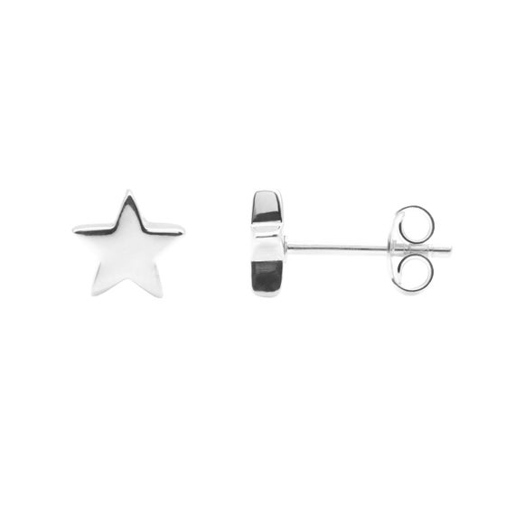 Image of Silver Star Stud Earrings