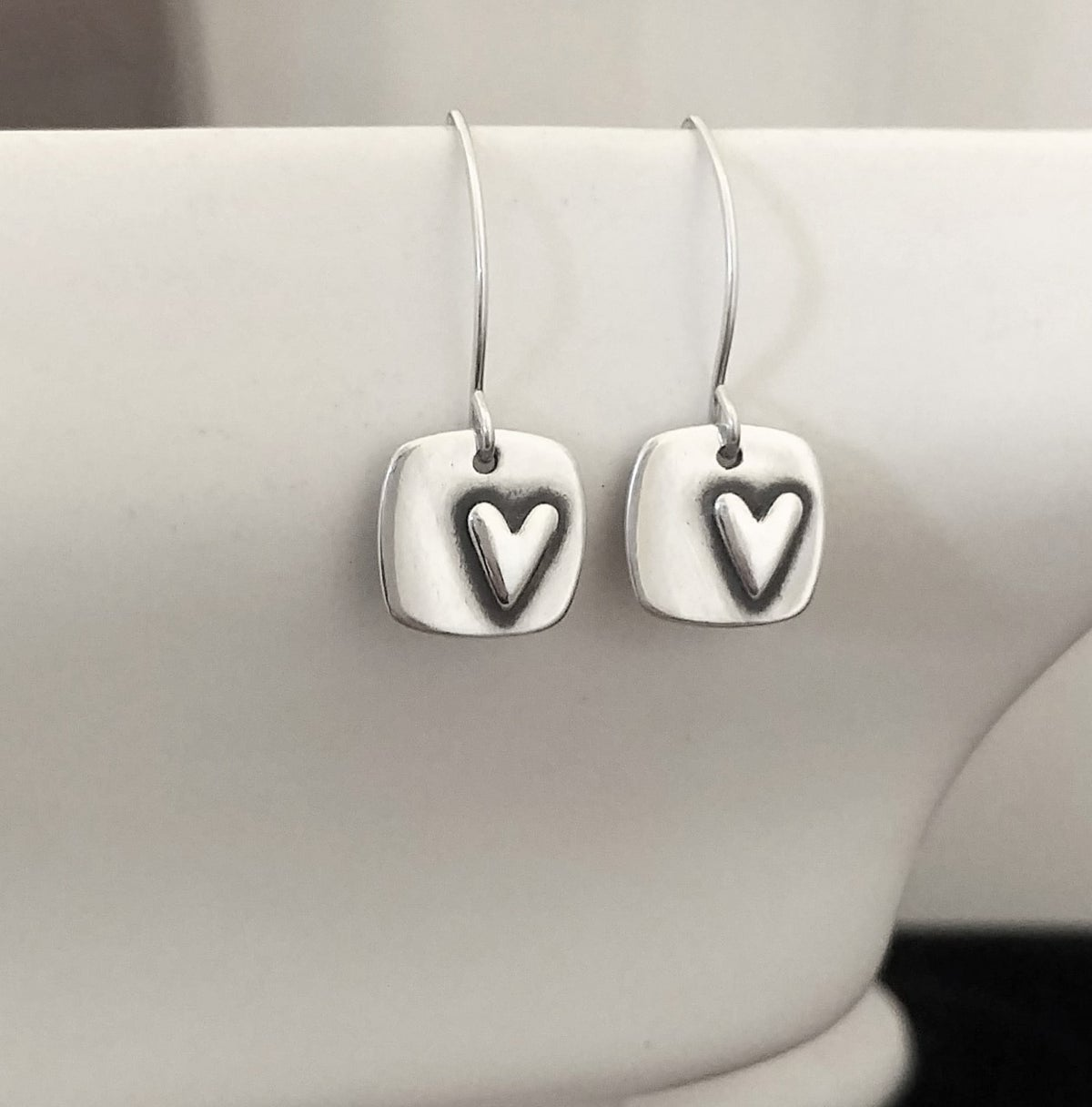 Image of Square Heart earrings