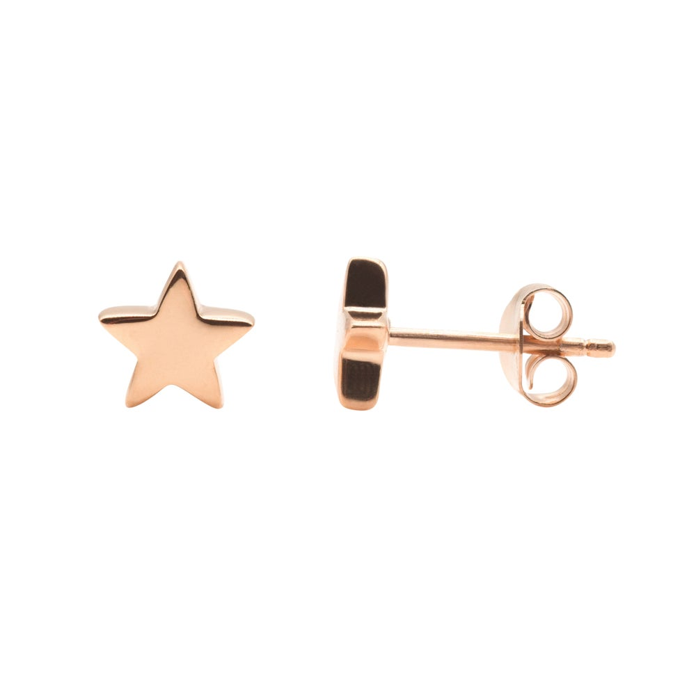 Image of Rose Star Earrings