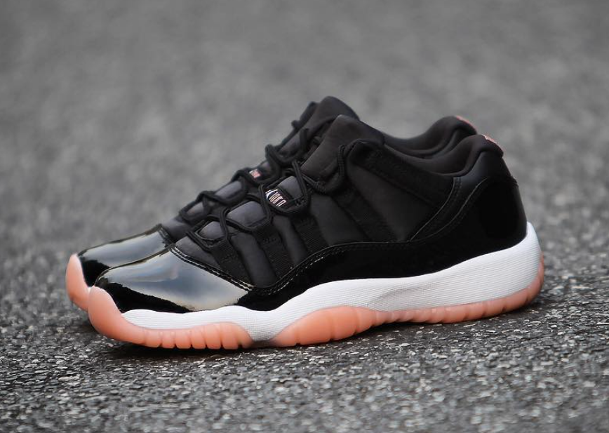 811f0fa157af Preorder) Air Jordan 11 Low GS Color  Black Bleached Coral-White ...