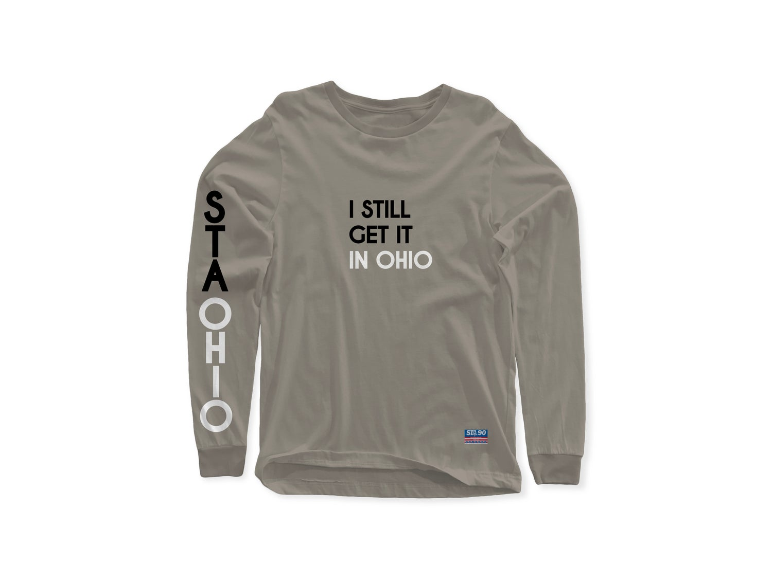 Image of I Still Get It Grey White W/ Black Long Sleeve Tee