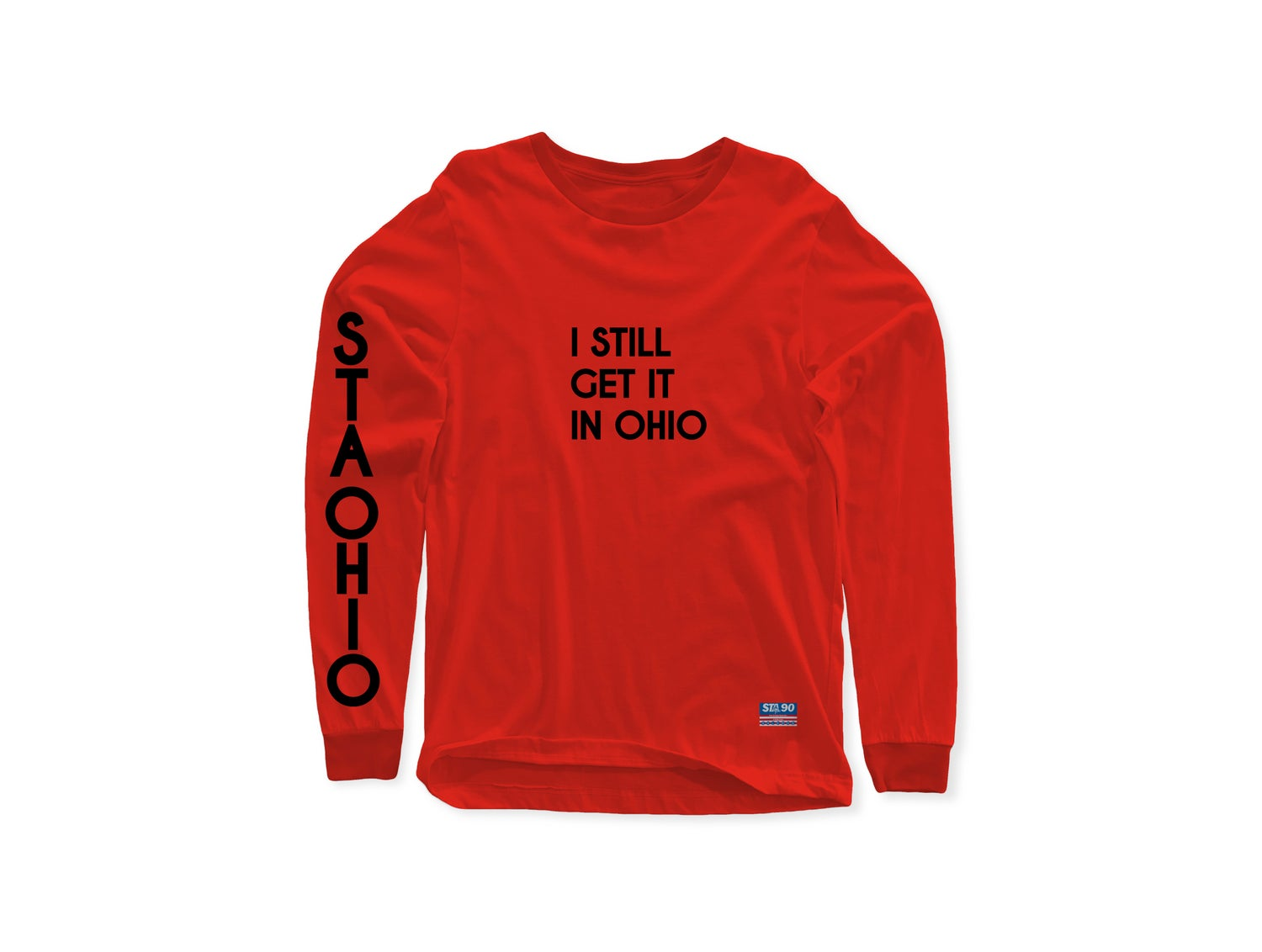 Image of I Still Get It Red W/ Black Long Sleeve Tee