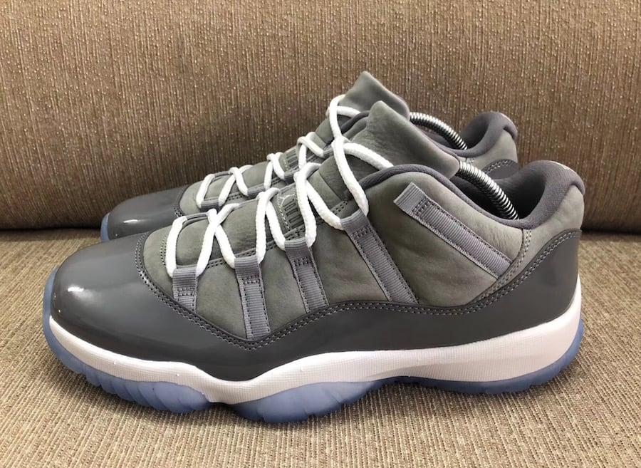 "new concept 6cf92 1166d (Preorder) Air Jordan 11 Low ""Cool Grey"" Medium Grey Gunsmoke-White Release  Date  April 28, 2018   Superstar Kicks"