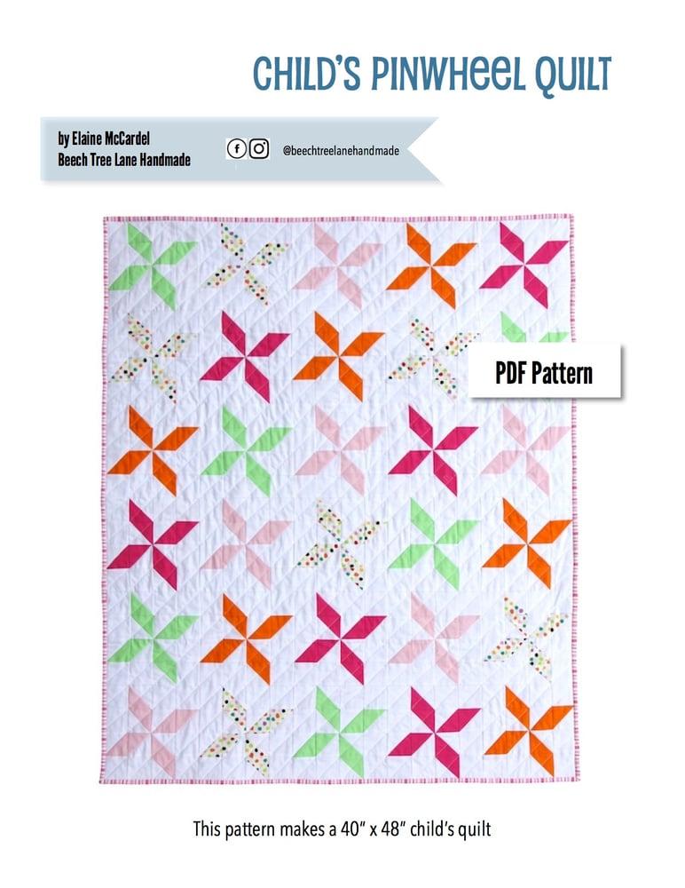 Image of Child's Pinwheel Quilt PDF Pattern