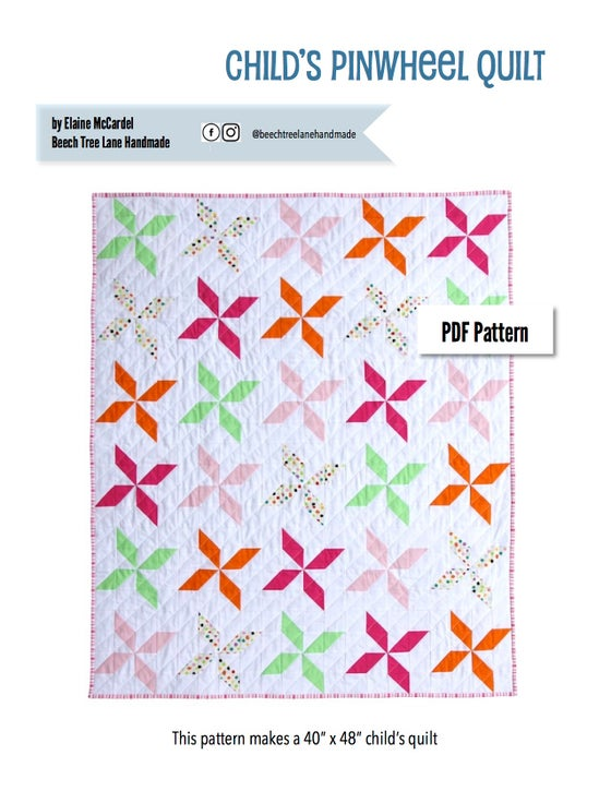 Image of Child's Pinwheel Quilt PDF Pattern