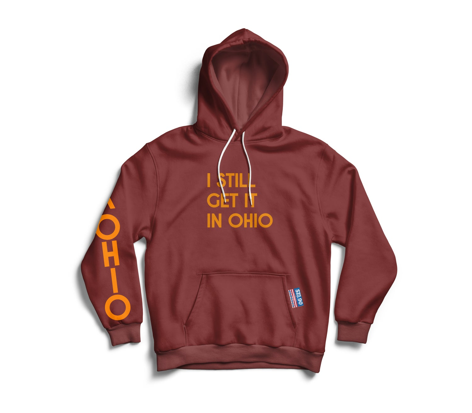 Image of I Still Get It Maroon W/ Gold Hoody