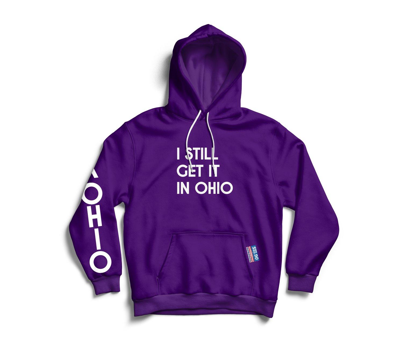 Image of I Still Get It Middie Purple W/ White Hoody