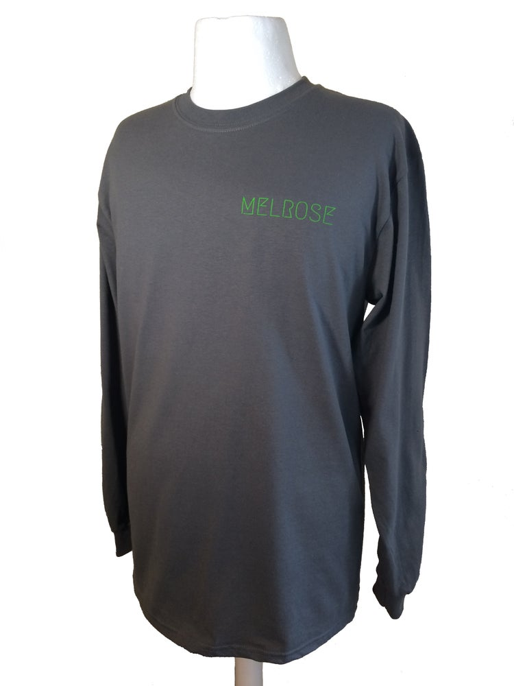 Image of Staple Long Sleeve - Grey/Fluo Lime