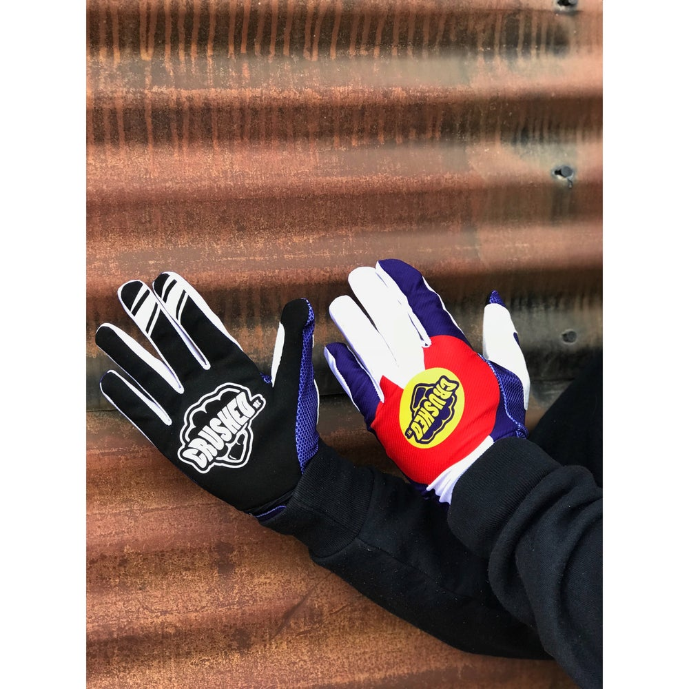 Image of Colorado Flag Crushed MX Gloves