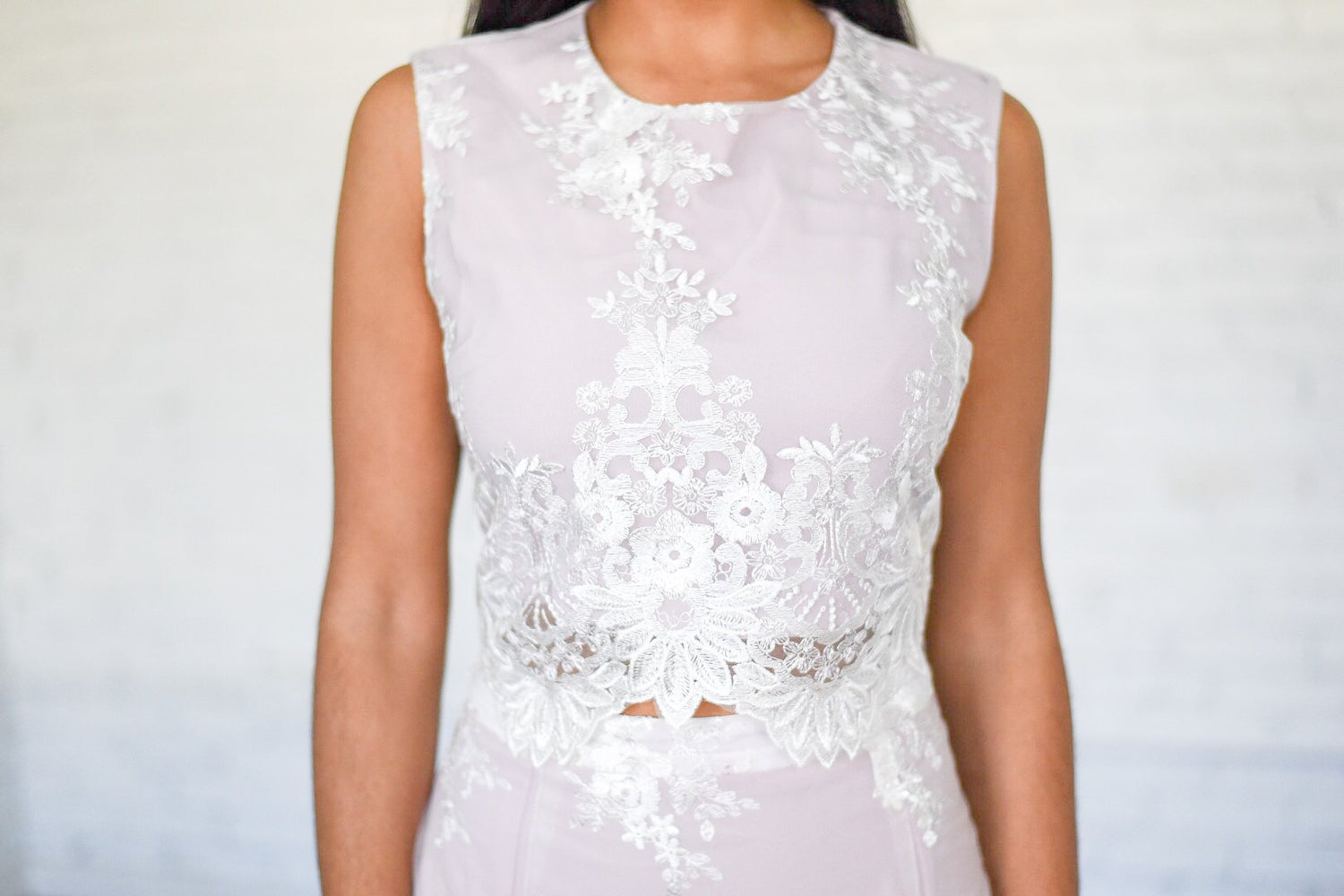 Image of 'Valeria' Lace Two Piece Set