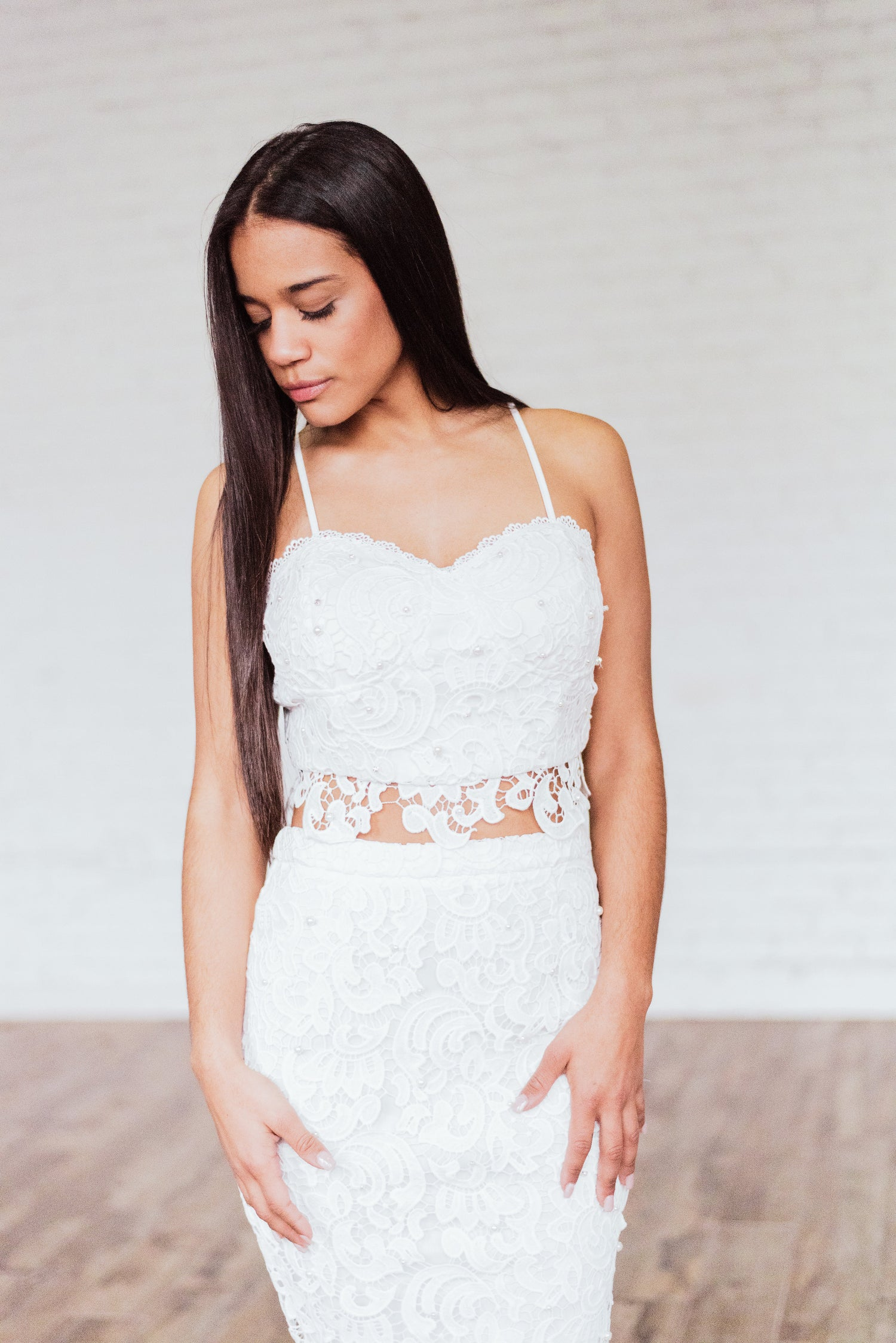 Image of 'Euphoria' Pearl Embellished Two Piece Set