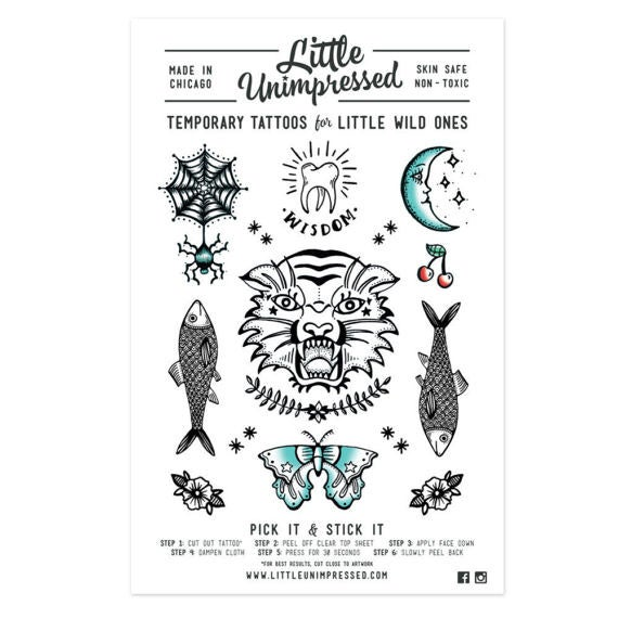 Image of Temporary Tattoos for Little Wild Ones - 2nd Edition
