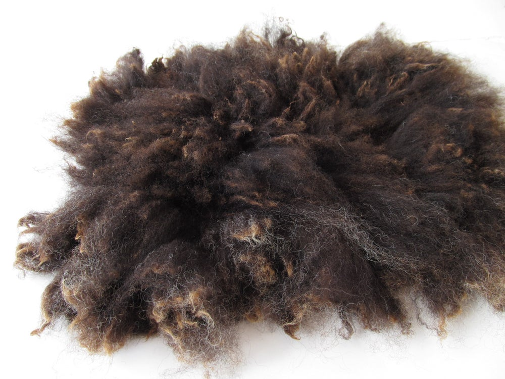 Image of  Fluffy Fur Felted Rug Newborn Photography Posing Prop. Dark Brown, medium Size D G03