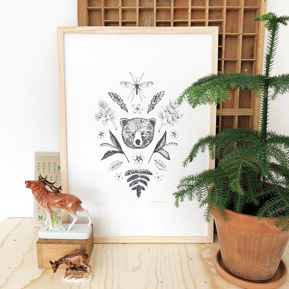 Image of The Pine forest screenprint