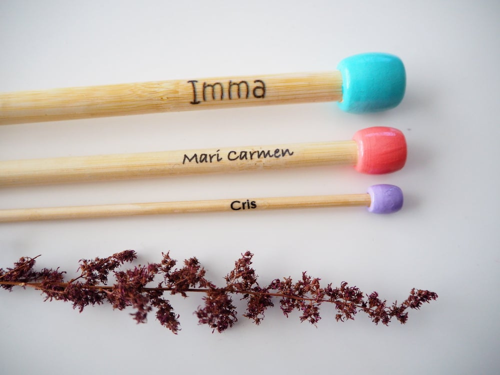 "Image of ""Solo bolita"" needles (with name)"