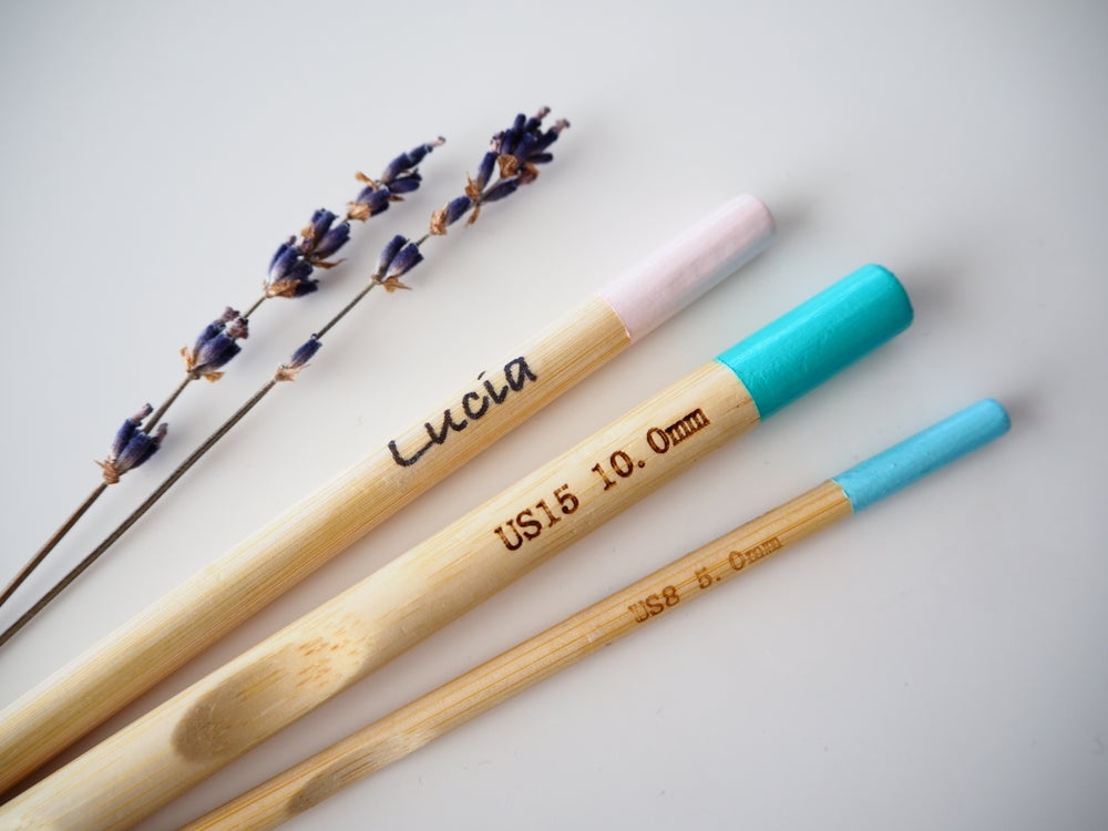 "Image of ""Simple"" crochet needles(with name)"