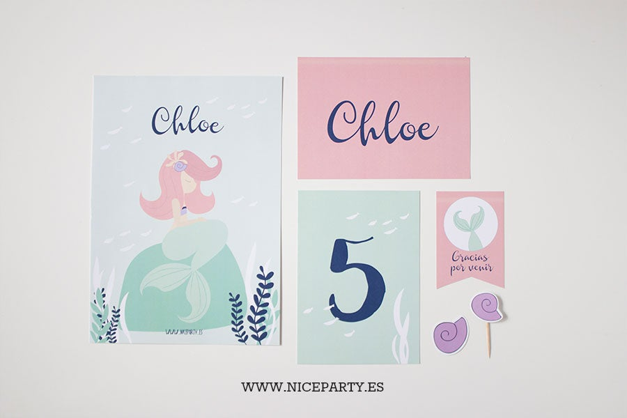 Pack imprimible Sirenas | Nice Party