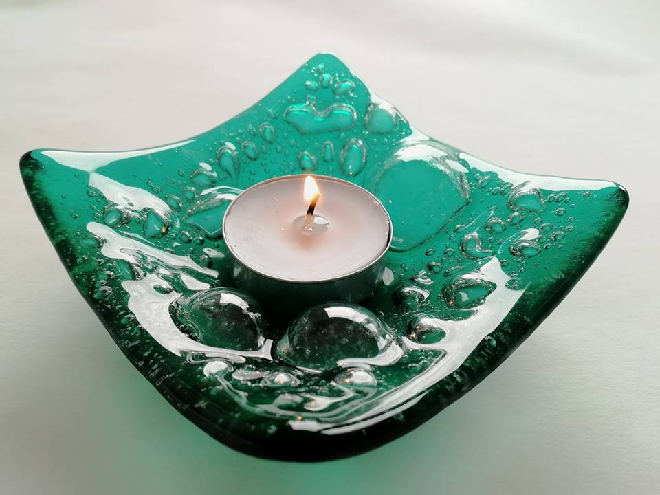 Image of Emerald Swell Candle Holder