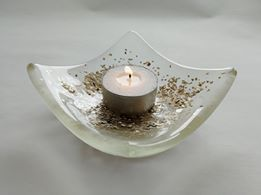 Image of Glittered Gold Candle Holder