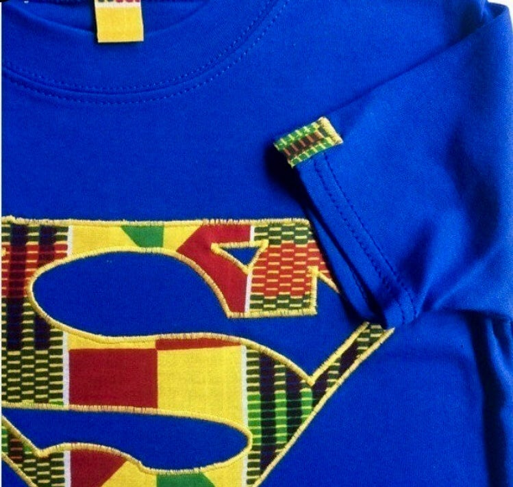 Image of Lil'Z Afro Superman Tee