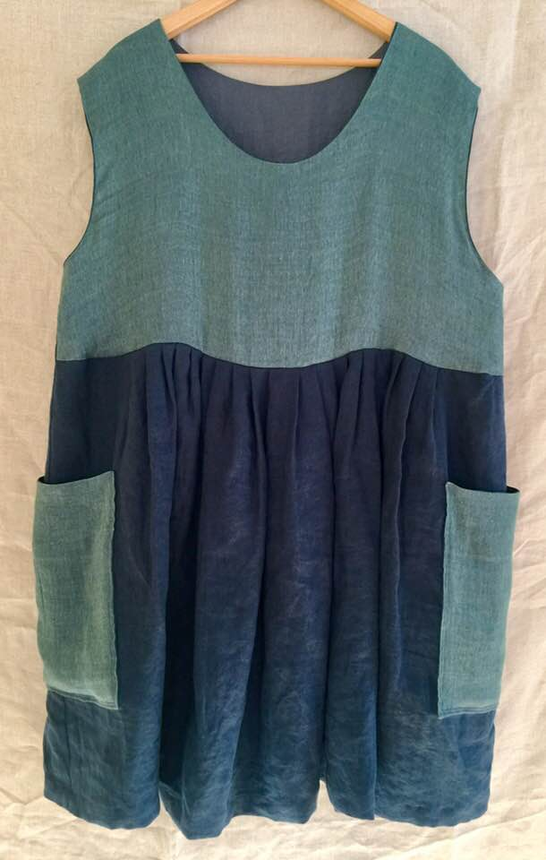 Image of reversible linen dress