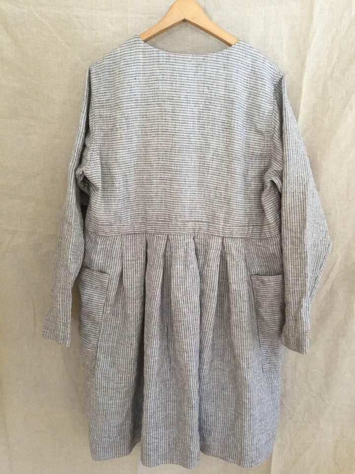 Image of striped linen dress
