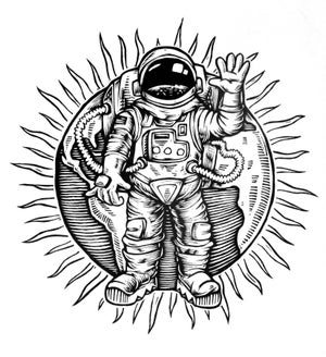 Image of Astronaut T-shirt **FREE SHIPPING**
