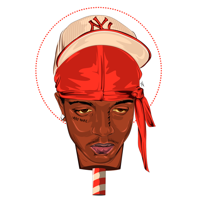 Image of SKI MASK THE SLUMP GOD Print