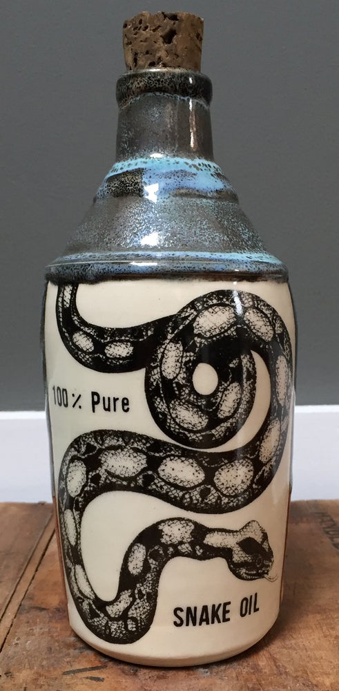 Image of Ceramic Bottle 34 - Pure Snake Oil