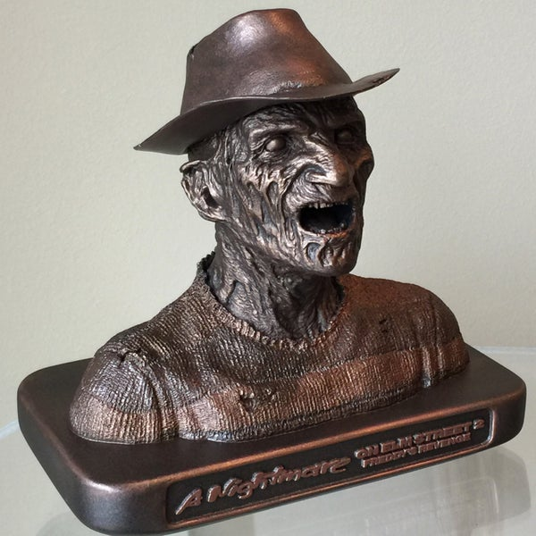 "Image of DELUXE FREDDY KRUEGER MAKEUP DESIGN MAQUETTE - WITH REMOVABLE HAT - 6.75""H x 8""W x 4.5""D"