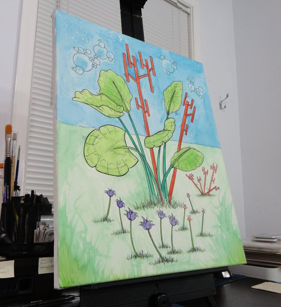 "Image of ""Trees #2"" Original Painting"
