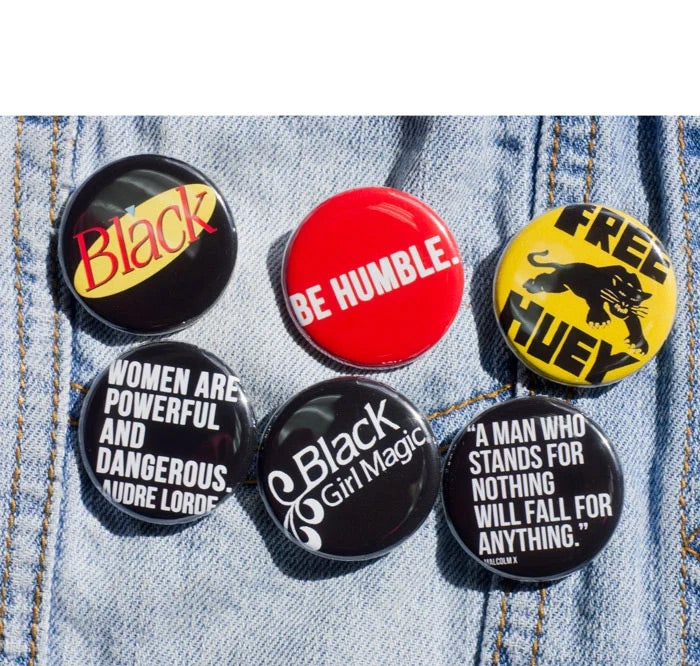 Image of Color Pin Back Button 6 - Pack