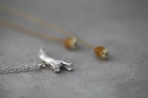 Image of silver hare necklace