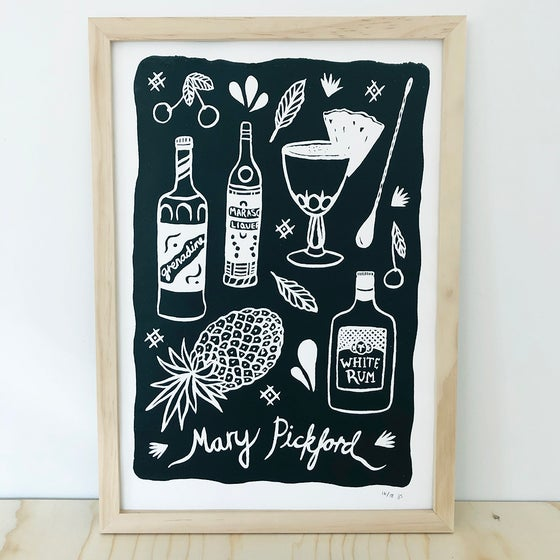 Image of Mary Pickford Screenprint