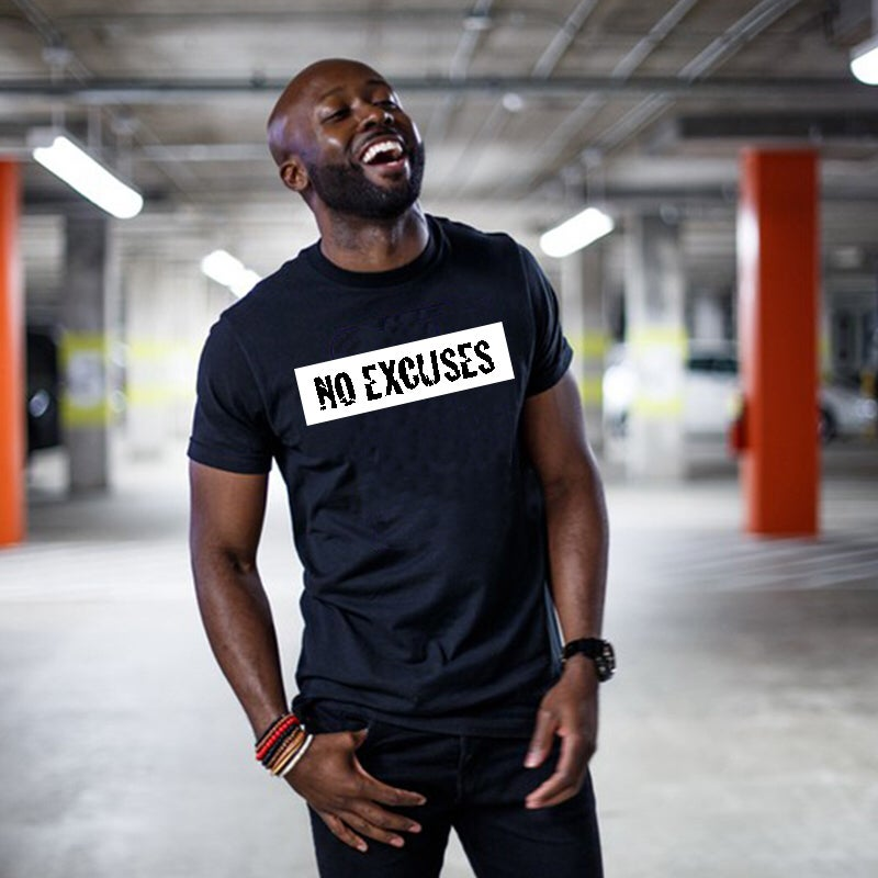 Image of 'No Excuses' Black T-Shirt
