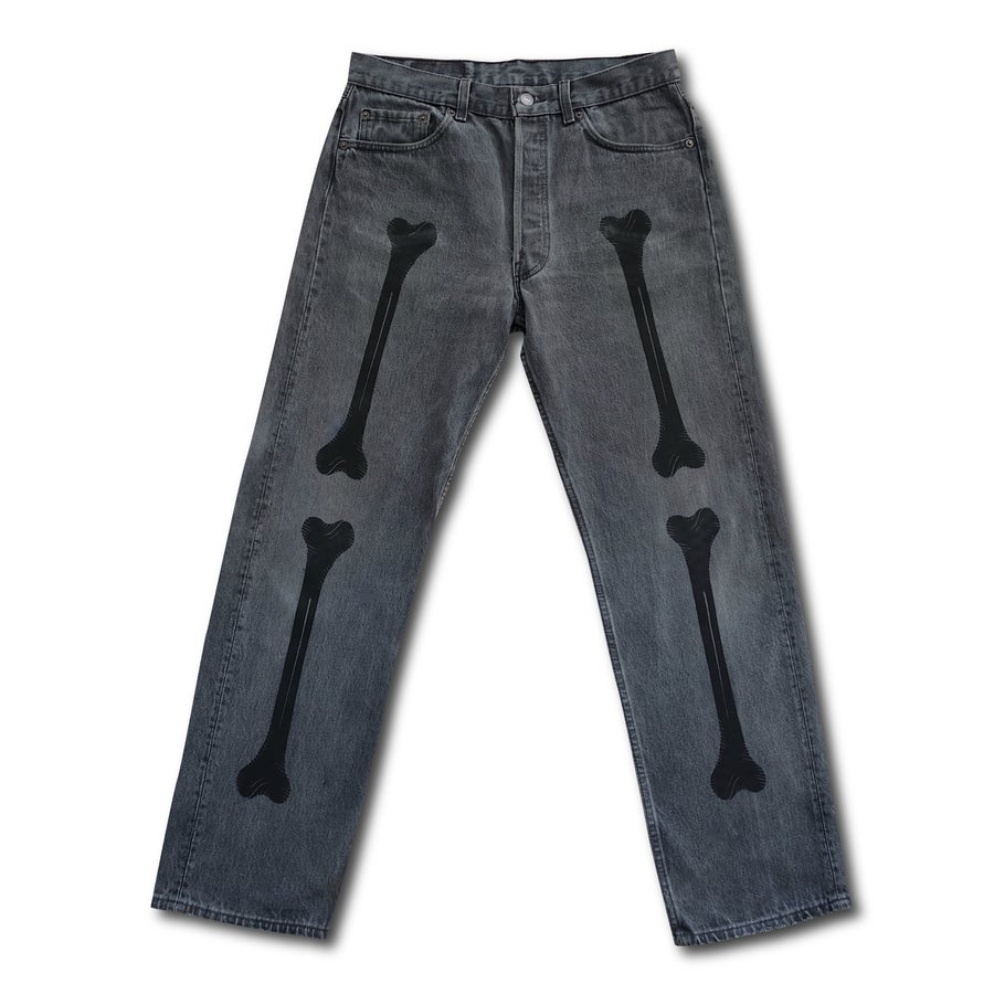 "Image of TAKEGOODCARE™ ""BONES JEANS"" GREY"