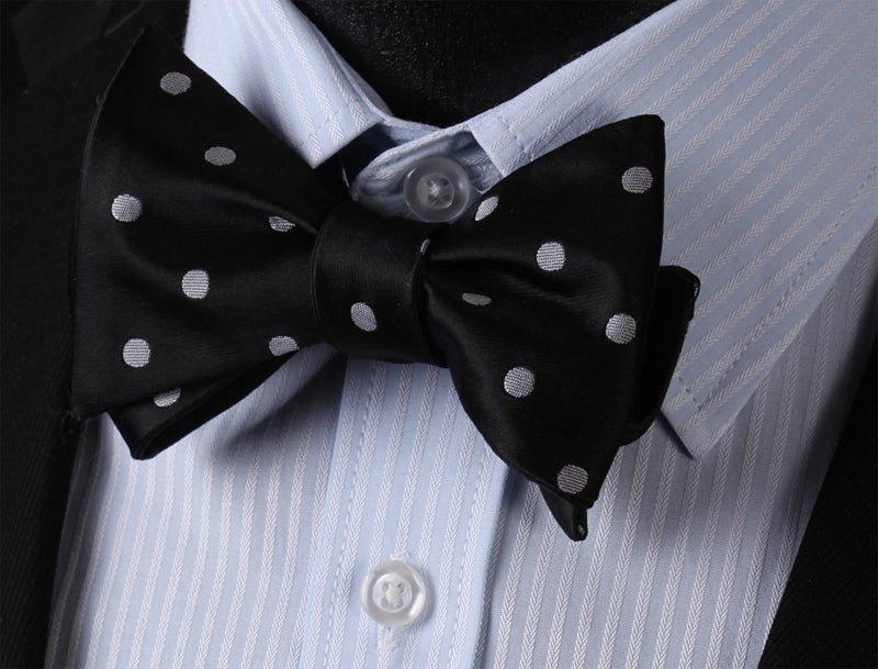 Image of BLACK TIE DOT BOWTIE