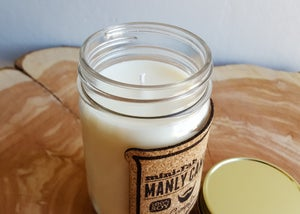 Image of Man Candle - Whiskey Scent - Manly Natural Soy Candle Hand Poured with Cotton Wick - Gifts for Men