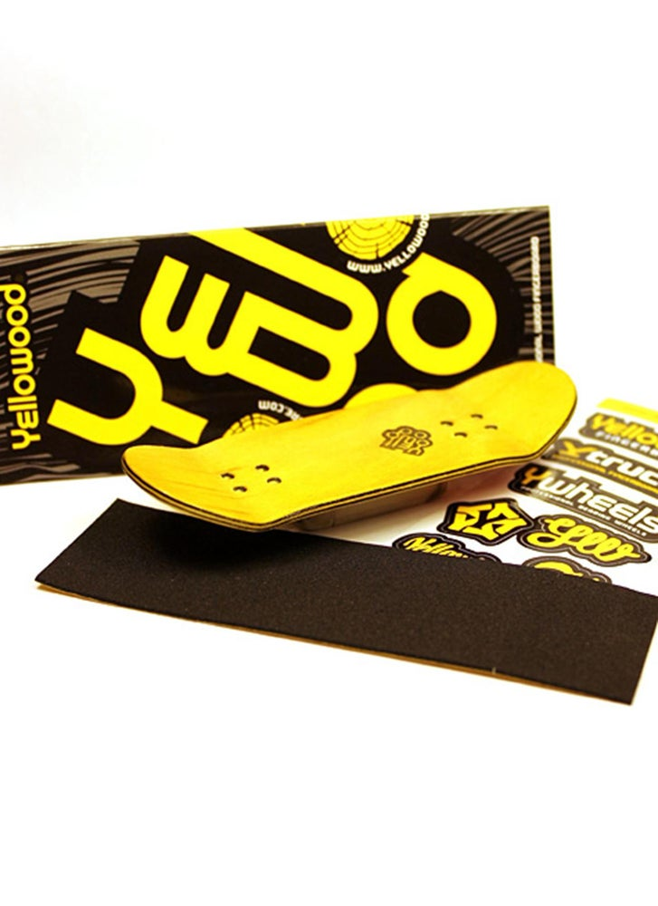 Image of Yellowood 'Chrome Foil' Fingerboard Deck 34mm
