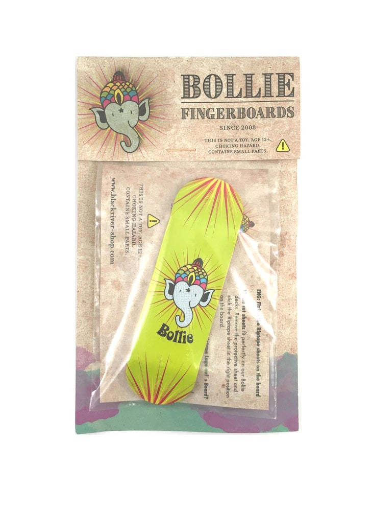Image of Bollie Green Logo Fingerboard Deck