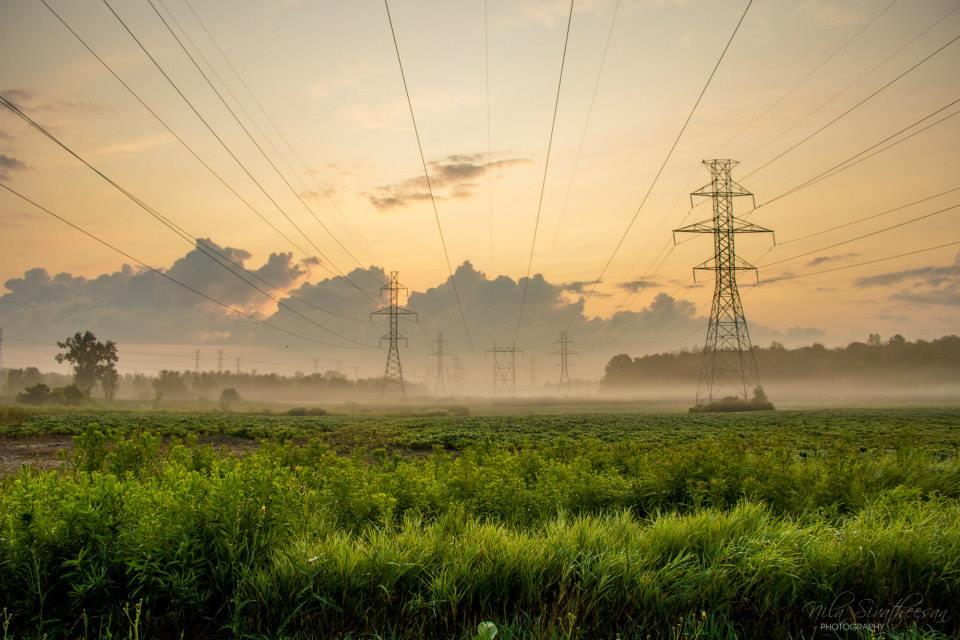 "Image of Electric Sunrise - 20 x 30"" Framed Print"