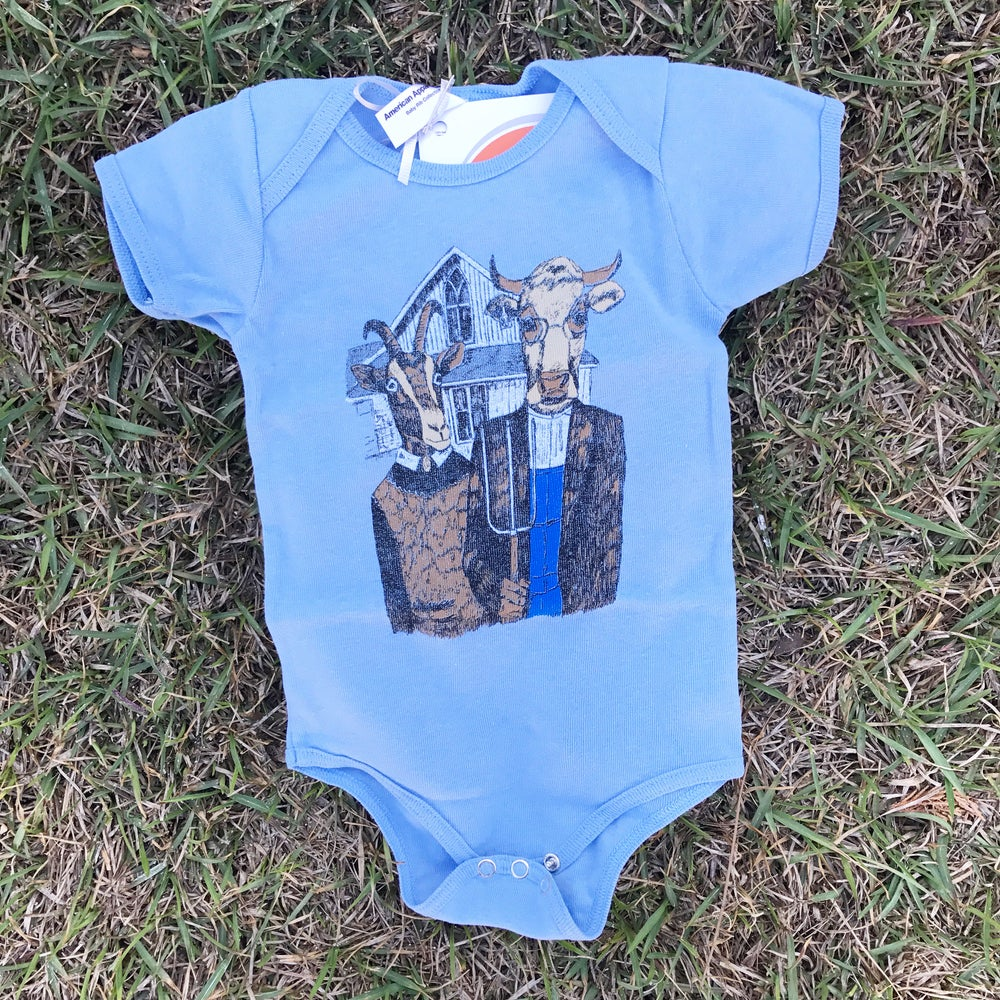 Image of Baby Mr P's Farmer Gothic Baby Onesie