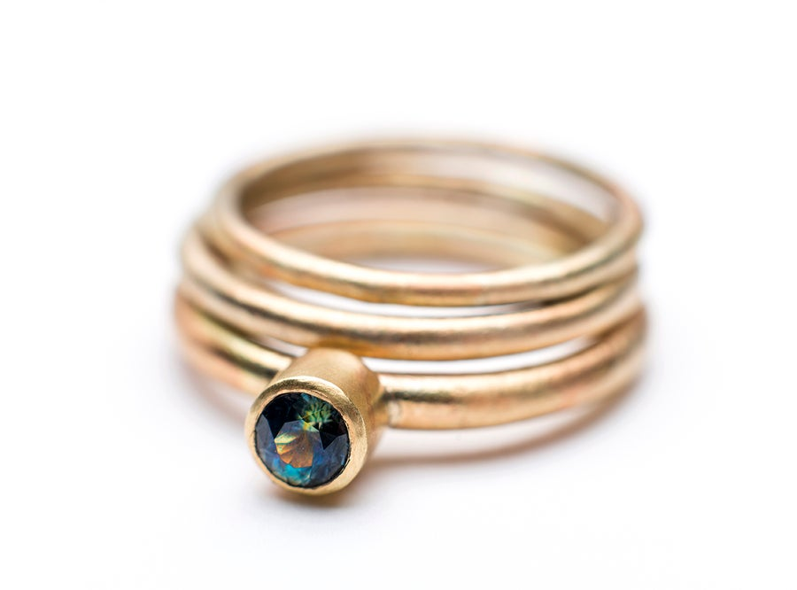 Image of Indian summer set of rings 8