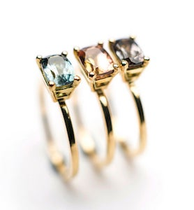 Image of Indian summer rings Blue Tourmaline