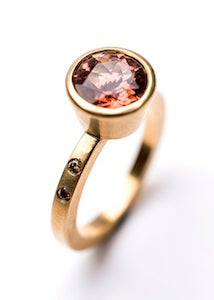 Image of Indian summer ring Tourmaline/ Diamonds