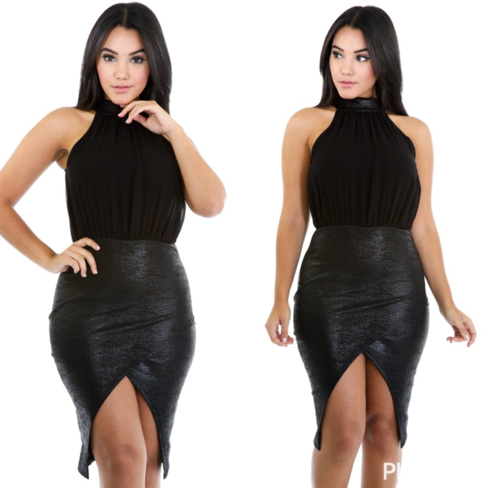 Image of Leather gat dress
