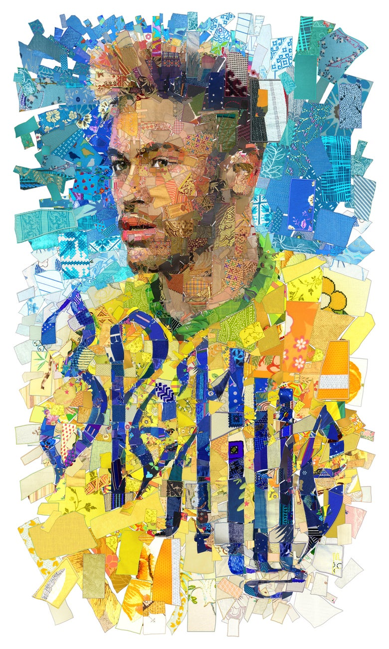 "Image of RUSSIA 2018 ""Зрелище (Spectacle): The Neymar Jr. (Brazil) portrait"""