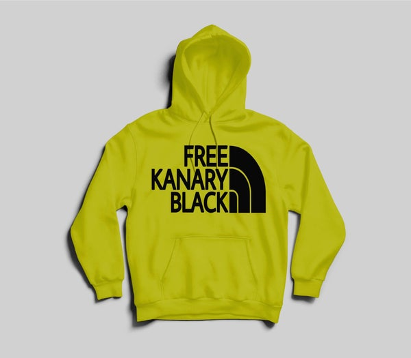 Image of Yellow free Kanary black hoodie