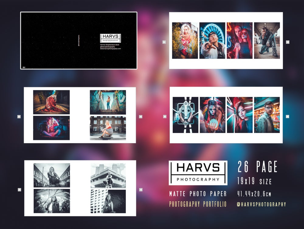 Image of Harvs Photography Portfolio Photo Book